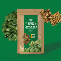 Savoury Spinach Seed Crackers
