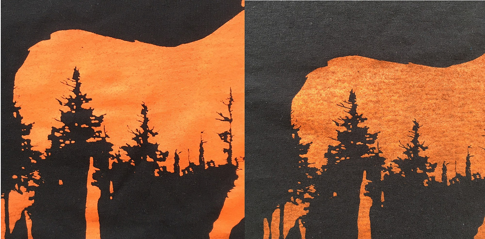 2 moose prints side-by-side