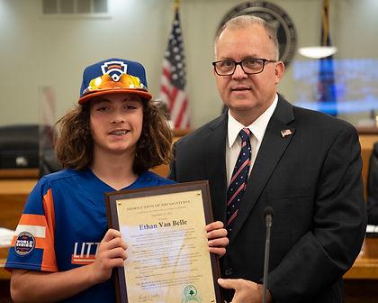 Ethan Van Belle and Mayor.JPG