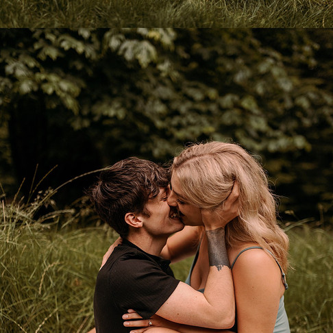 intimate engagement session at summer camp tadmor