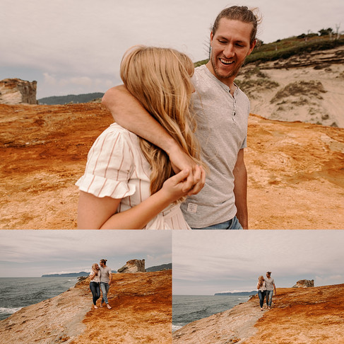 Steamy sunset beach couple session