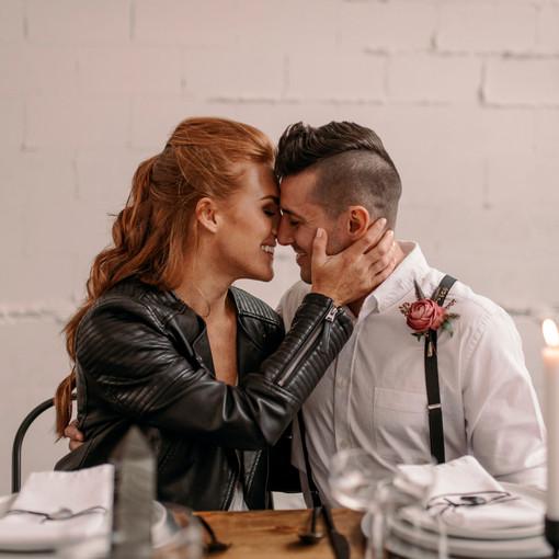 urban downtown punk elopement wedding in Portland Or