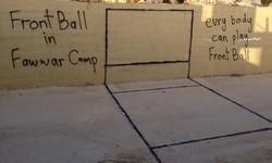 Mur de frontball improvisé