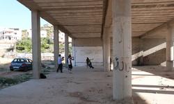 Mur improvisé à Al Fawwar