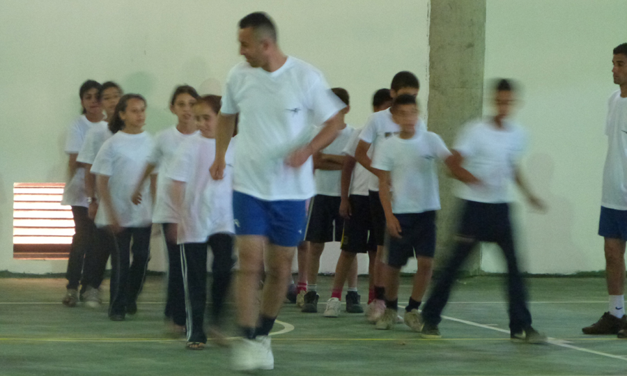 Premiers échauffements frontball