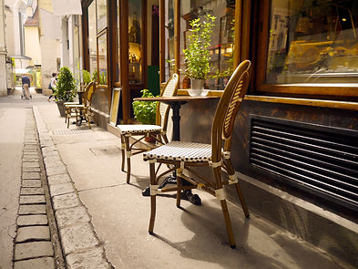 Street cafe vienna style chairs with tab