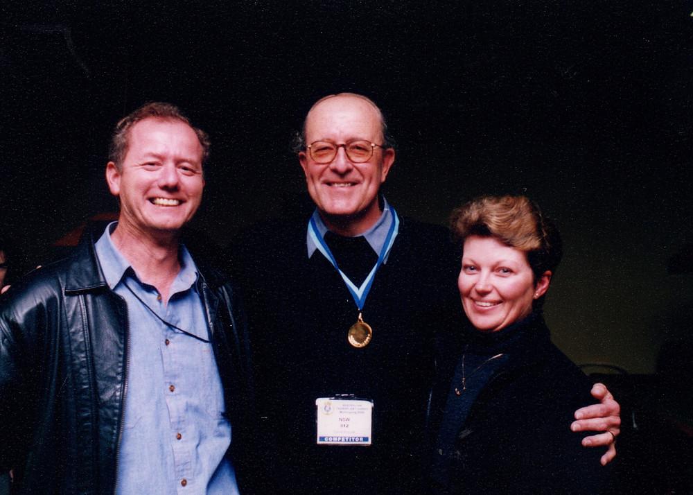 Graham & Elayne with David and his Snooker Gold medal