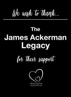we wish to thank The James Ackerman Lega