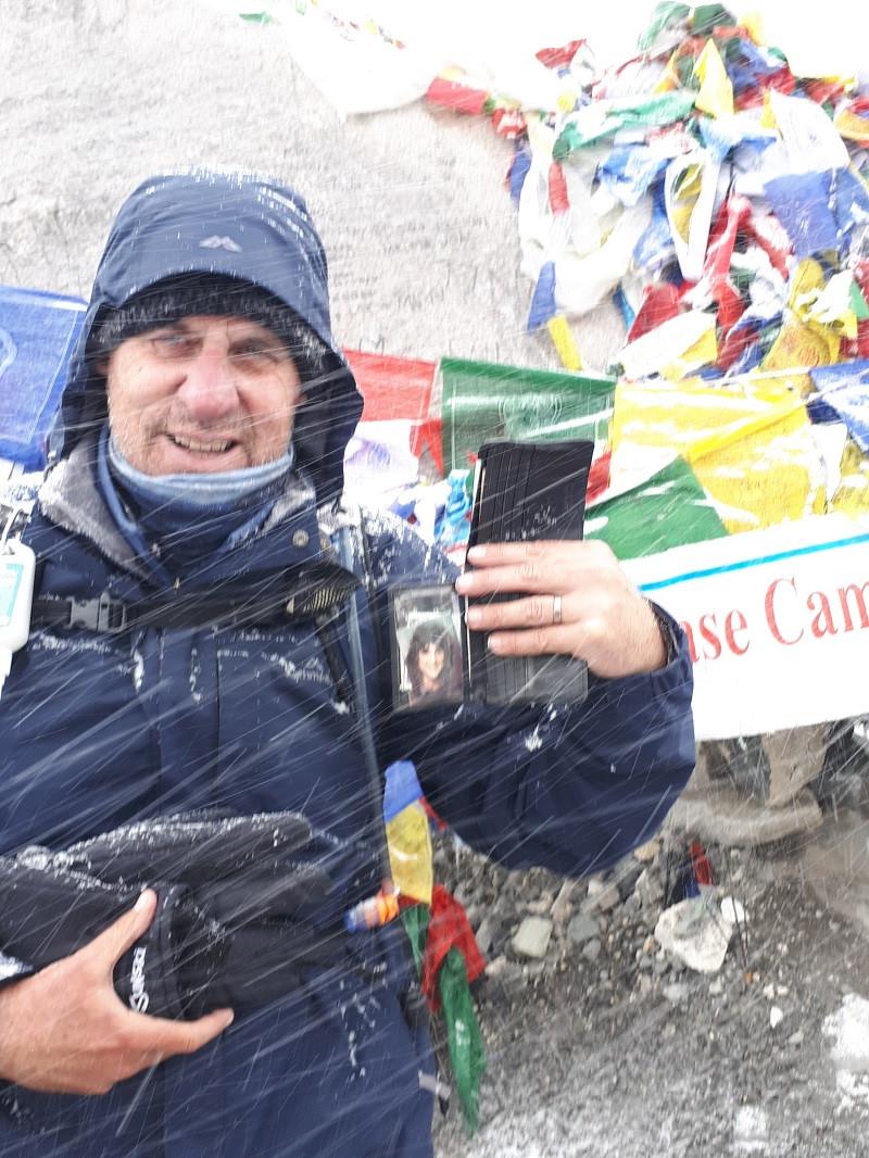 Warwick at Everest Base Camp