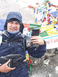Warwick Duncan at Everest Base Camp with