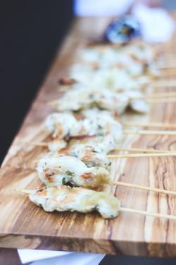 Chicken Brochette w/Lemon & Garlic