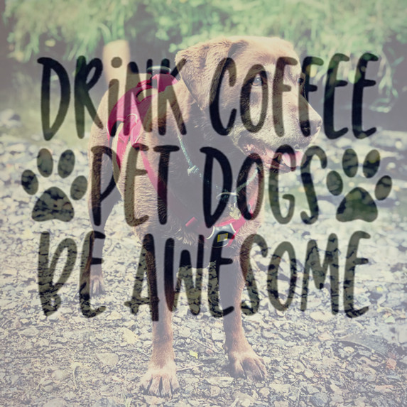 Drink Coffee, Pet Dogs, Be Awesome...