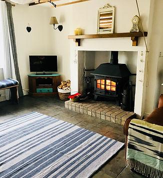 Living Room Log Burner Multi Fuel Stove Holiday Cottage Dog Friendly