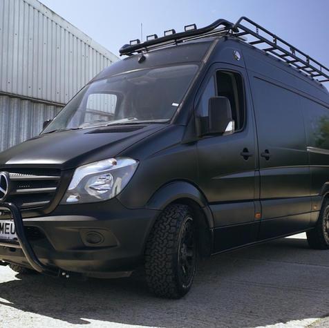 Matte Black Mercedes Sprinter Conversion