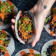 Mini Black Bean Tacos