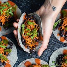 Mini Black Bean Tacos