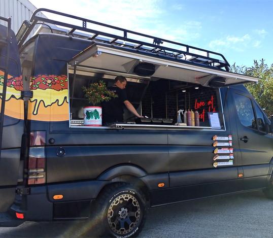 Black street food van
