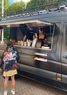 Festival Themed Food Truck for a Wedding