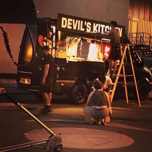 Catering Van on Filmset