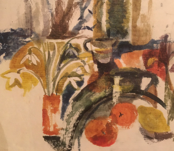 Kitchen table, early Spring