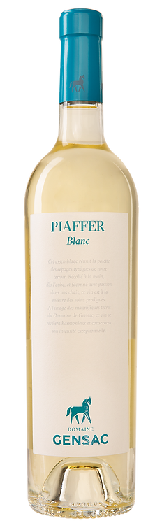 CHÂTEAU DE GENSAC - Piaffer Blanc IGP Gers 2019