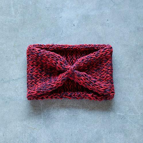 ヘアバンド 赤×紫ミックス