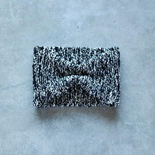 ヘアバンド 黒×白ミックス