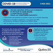 Annonce Gouvernement du Québec - 4 mai 2