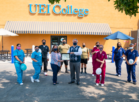 UEI College Bakersfield Honored With School of Distinction, Commitment to Education Awards