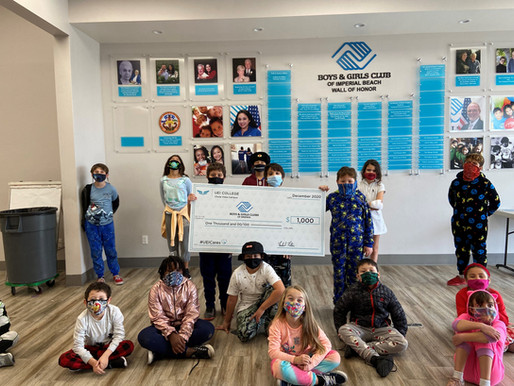 Chula Vista Students Win Contest, Make $1000 Donation to Boys & Girls Club
