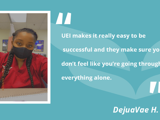MA Student Finds Culture of Support at UEI College in Phoenix