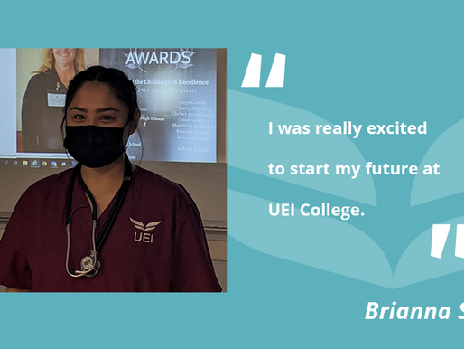 UEI College Garden Grove Medical Assistant Student Awarded Service Club Scholarship