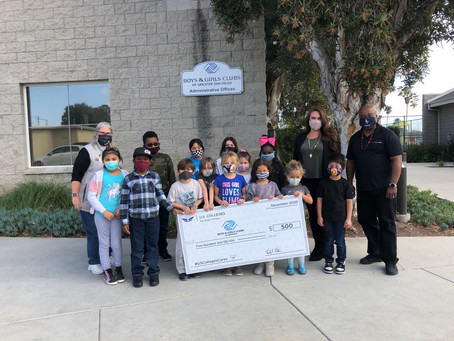 San Diego Students Win Contest, Make Donation to Boys & Girls Club