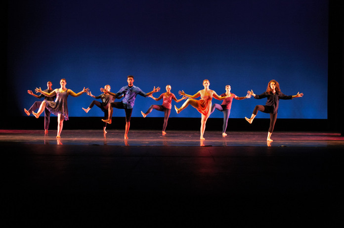 Solstice A Concert of Dance (third from right in coral) - Millikin University