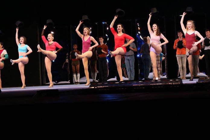 A Chorus Line (second from left in pink) - Theatre in the Park