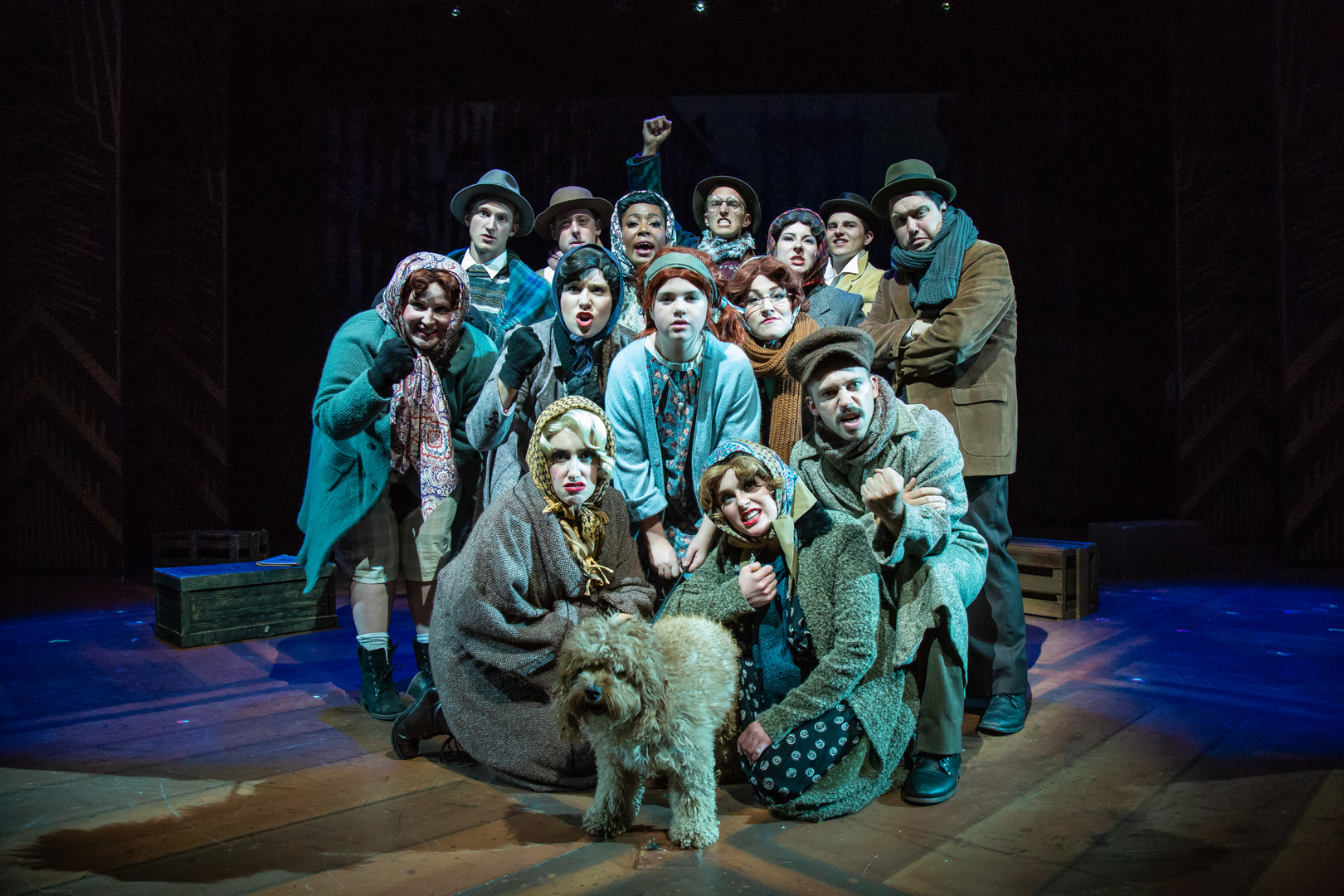 Annie - Rocky Mountain Repertory Theatre (second from left, second row)