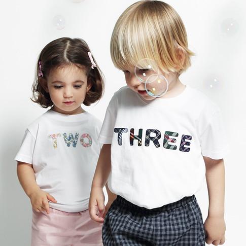 Le nostre T-shirt sono un'idea speciale da regalare al compleanno perchè possono essere personalizzate con l'età del bambino!