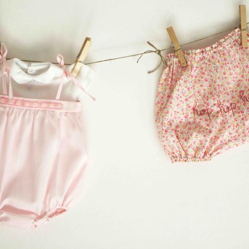 Bebè: barboteuse e bloomers