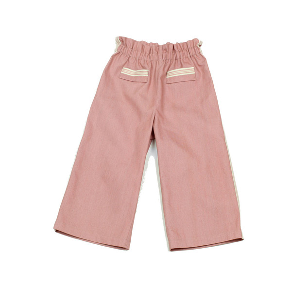 Pantaloni in denim rosa