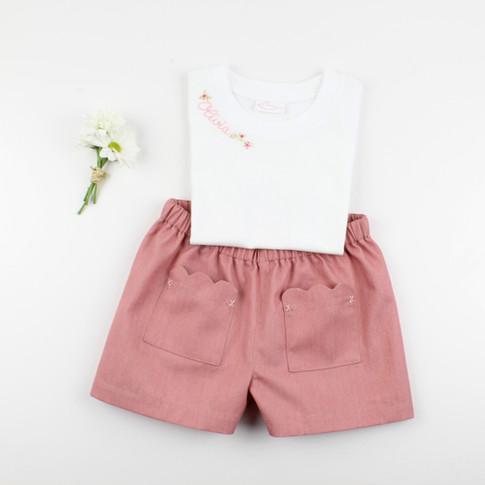 T-shirt personalizzata e shorts Olivia