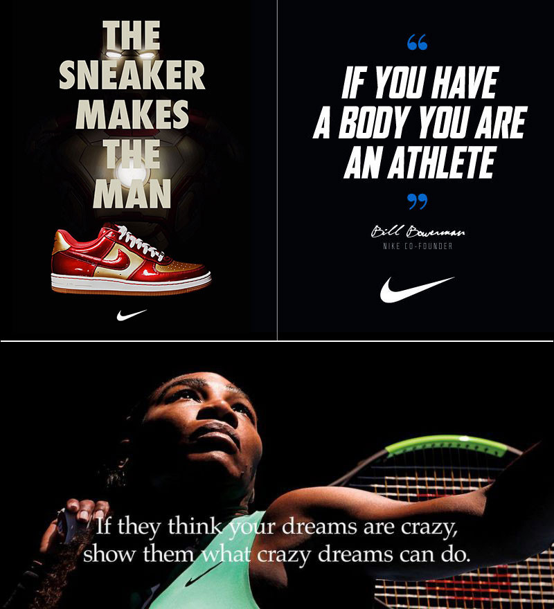 Three Nike ads which empower their customers