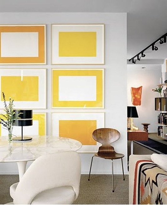 Simplified Shapes Create a Bold & Colorful Art Wall | Poppsee