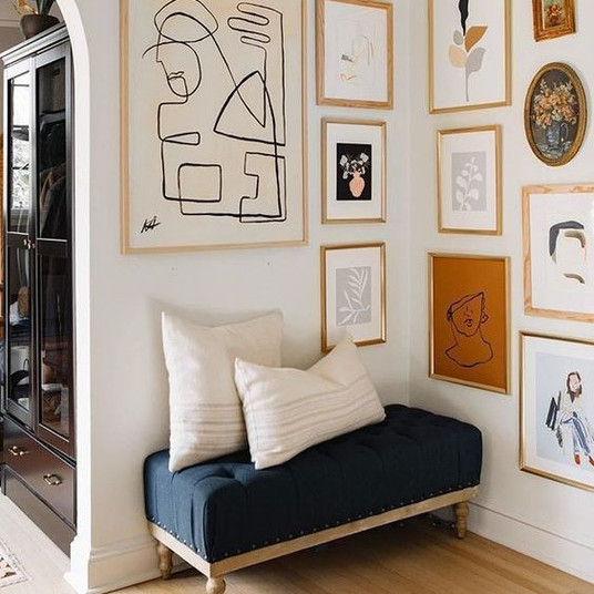 How Light Honey Colored Wood Frames Warm up a Space  |  Poppsee