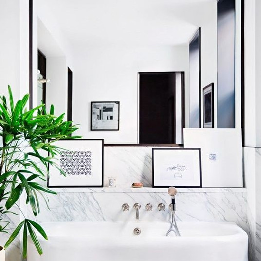 Don't Forget Spaces Like Your Bathroom When Placing Artwork | Poppsee