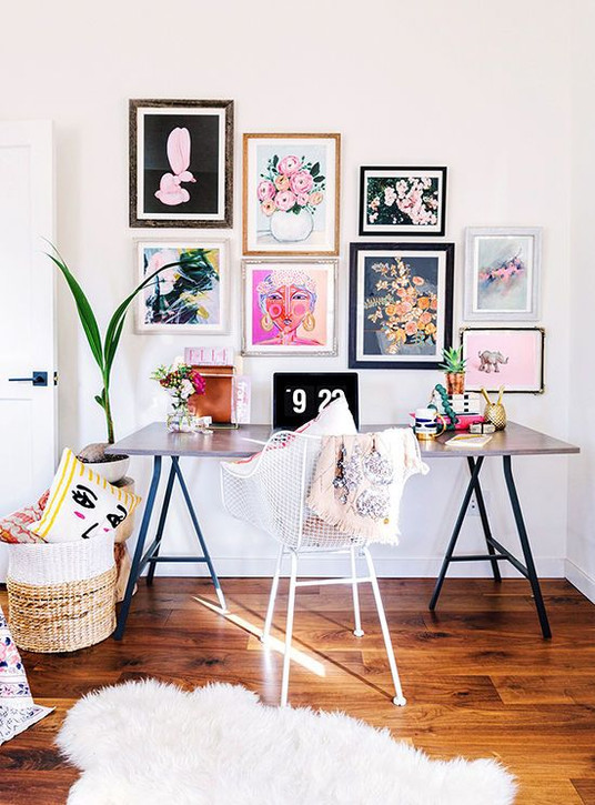Adding Black to a Feminine Art Wall Can be a Good Thing | Poppsee
