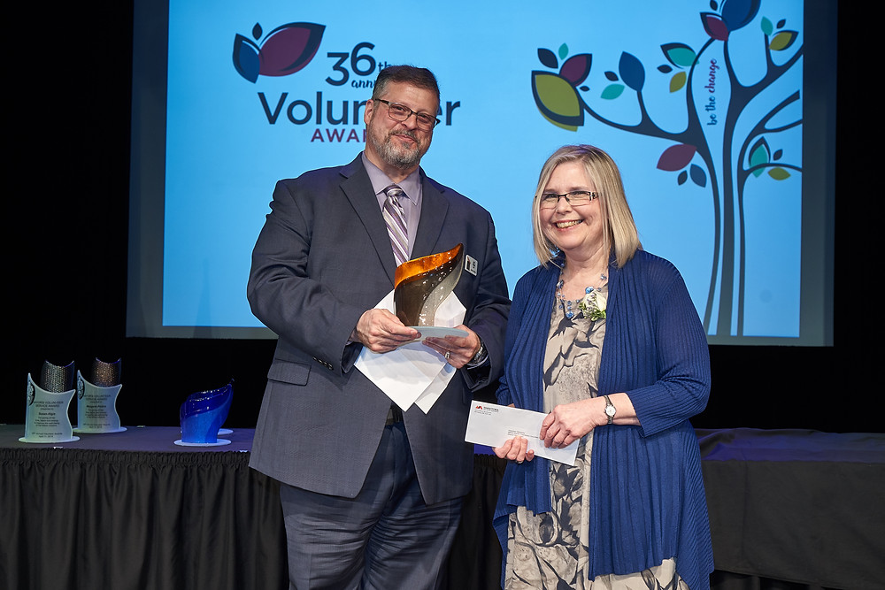 Sherrie Winstanley, Founder and Director of SHADE was honoured at the annual Volunteer Manitoba Gala Dinner and Awards Ceremony at Club Regent.
