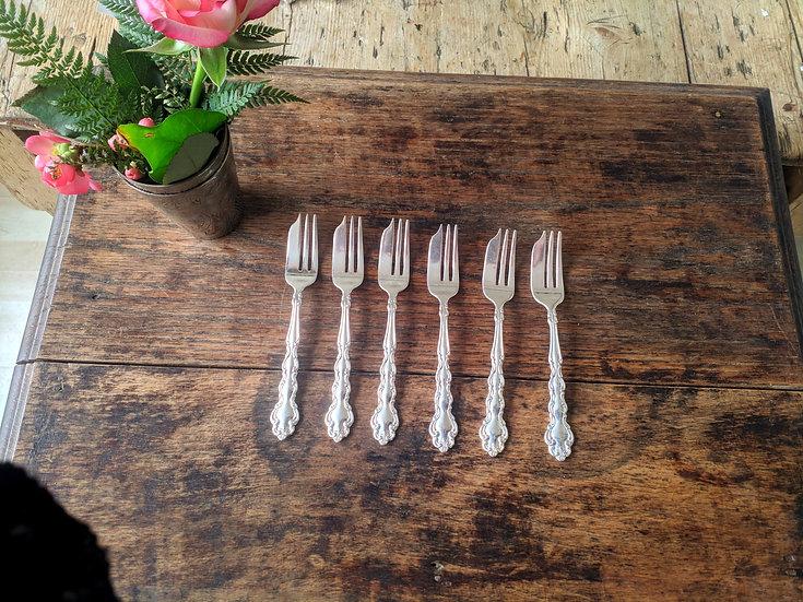 Cake forks- Baroque Patterned