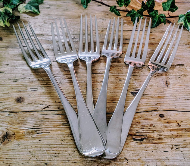 Old English Main Course Forks- set of 6