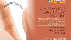 Comissão discute atendimento a mulheres vítimas do contraceptivo Essure