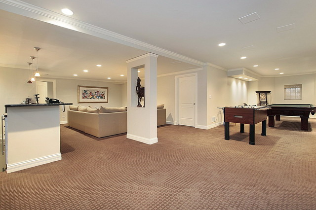 Basement Carpet Billiards